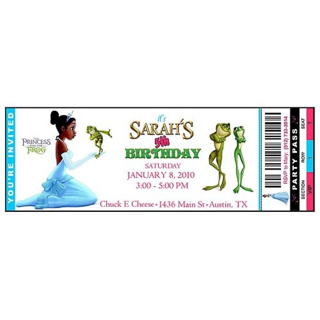Princess Tiana Birthday Invitations Printable
