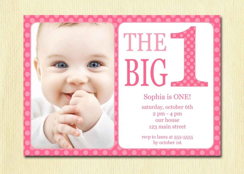 Printable 1st Birthday Invitations Girl