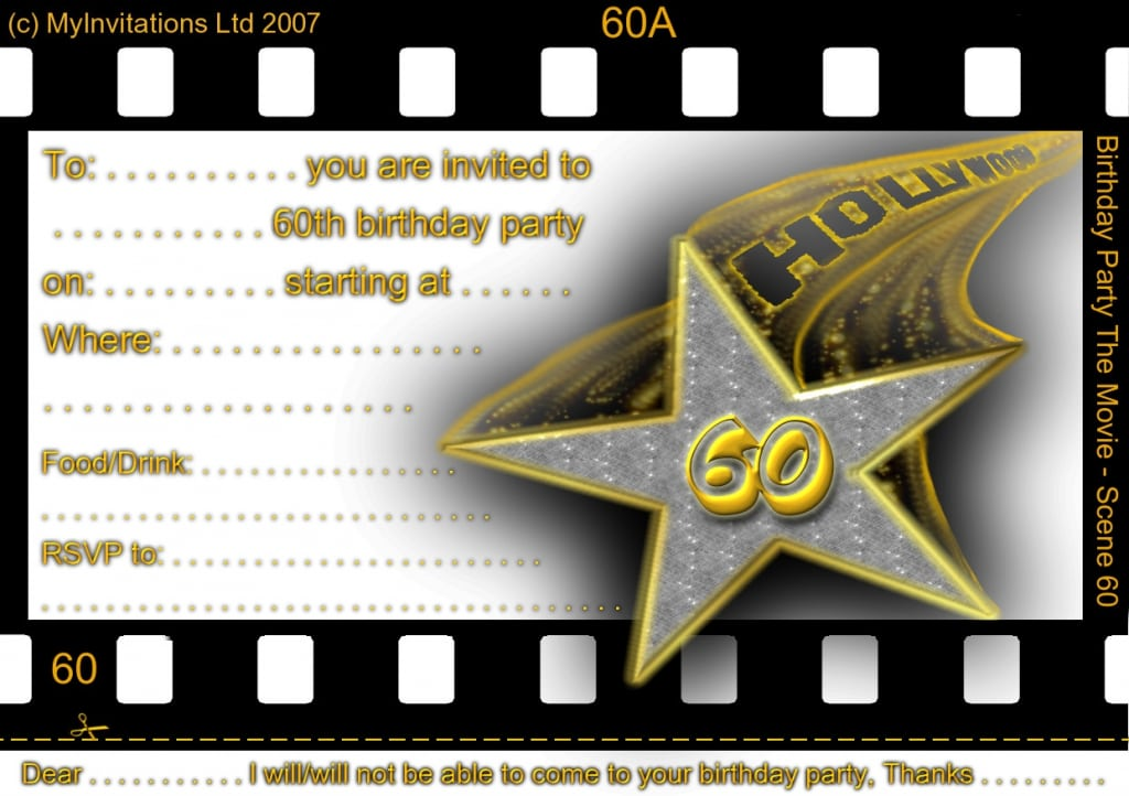 Printable Birthday Invites 60th