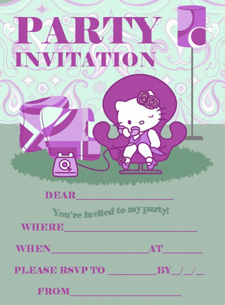 Printable 7th Birthday Invitation Templates 2