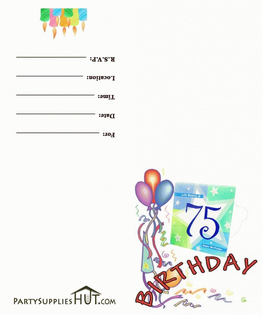 Printable 7th Birthday Invitation Templates 3