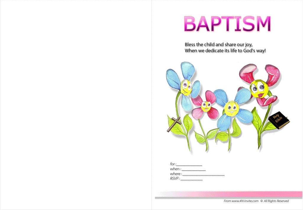 Printable Baptism Invitation Templates 5