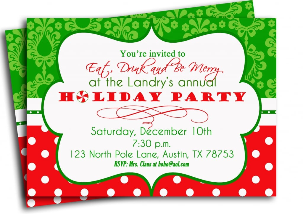 Printable Christmas Invitations Cards