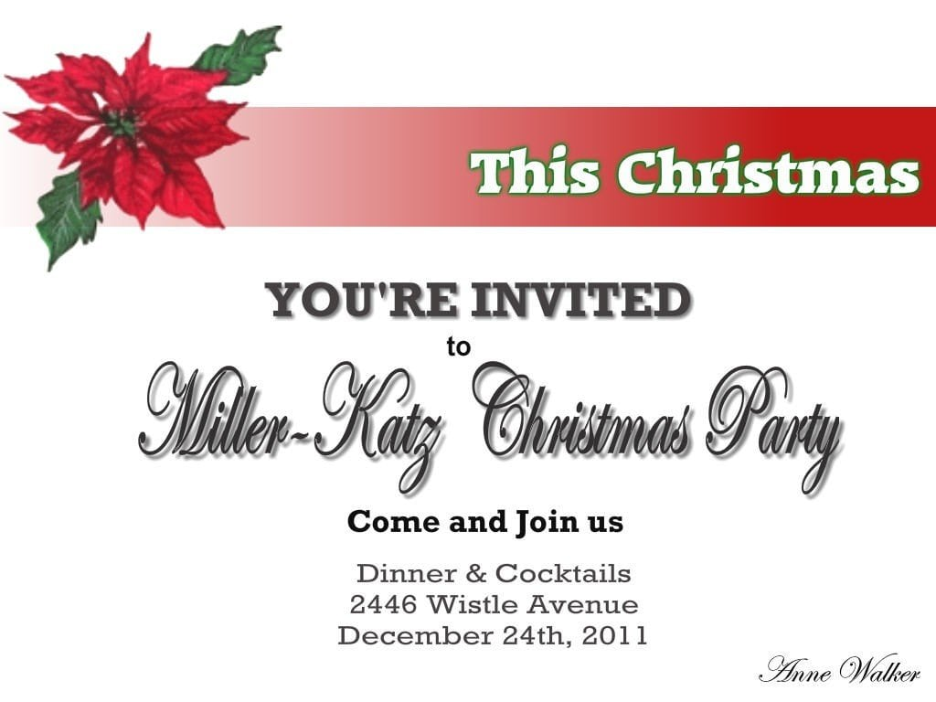 Printable Christmas Invites 3