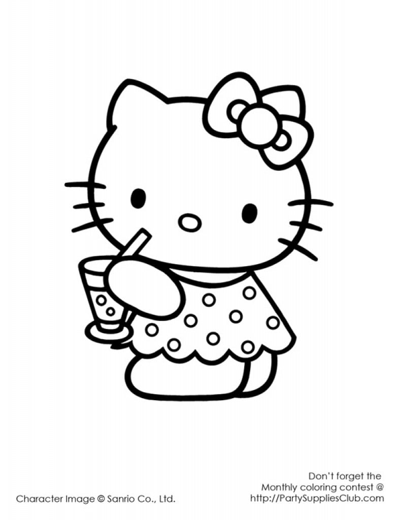 Printable Hellow Kitty Birthday Invite 3