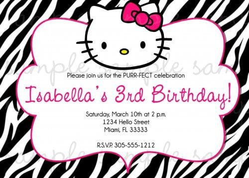 Printable Hellow Kitty Birthday Invite 4