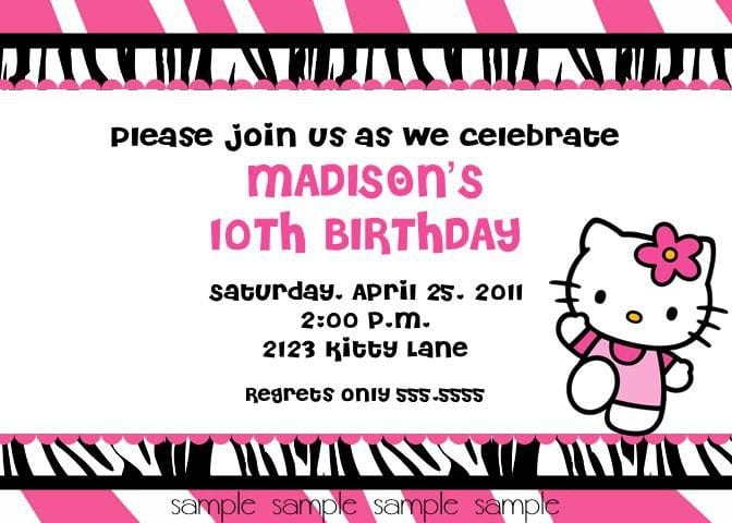 Printable Hellow Kitty Birthday Invite 5