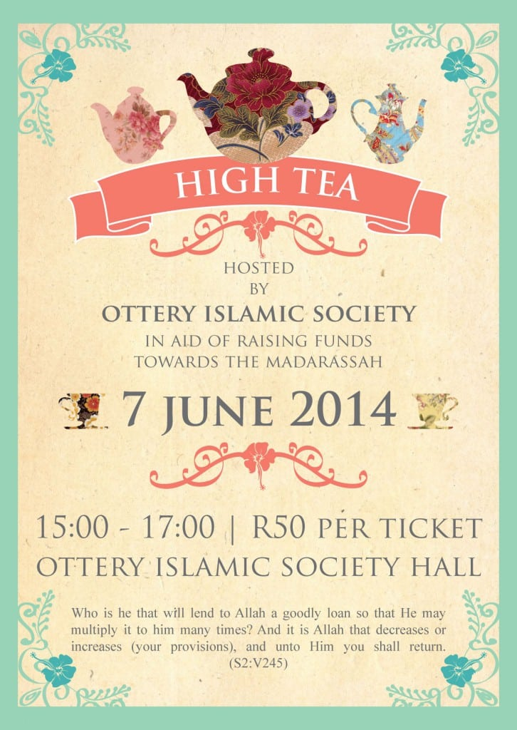 Printable High Tea Invitations 5