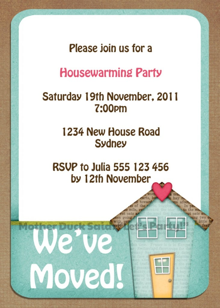 Printable Housewarming Invitations Templates 3