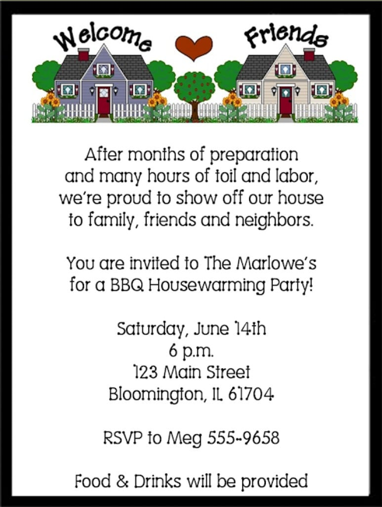 Printable Housewarming Invitations Templates 5