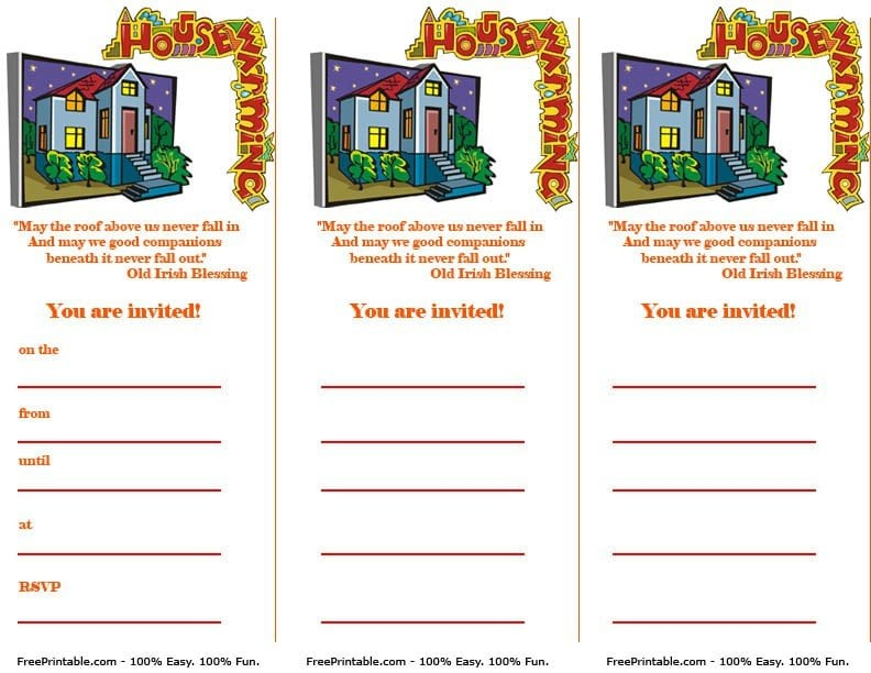 Printable Housewarming Party Invitations Free – Free Housewarming Party Invitations