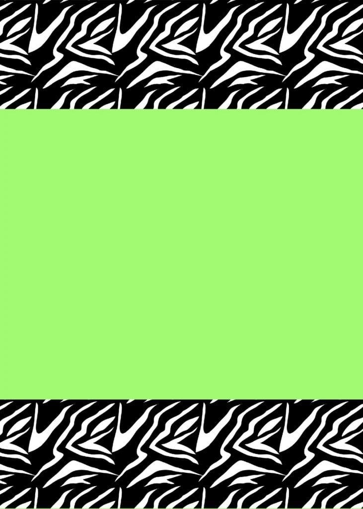 Printable Invitation Templates Zebra Print