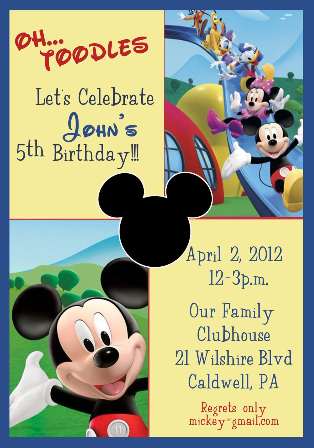 Printable Mickey And Minnie Mouse Birthday Invitations