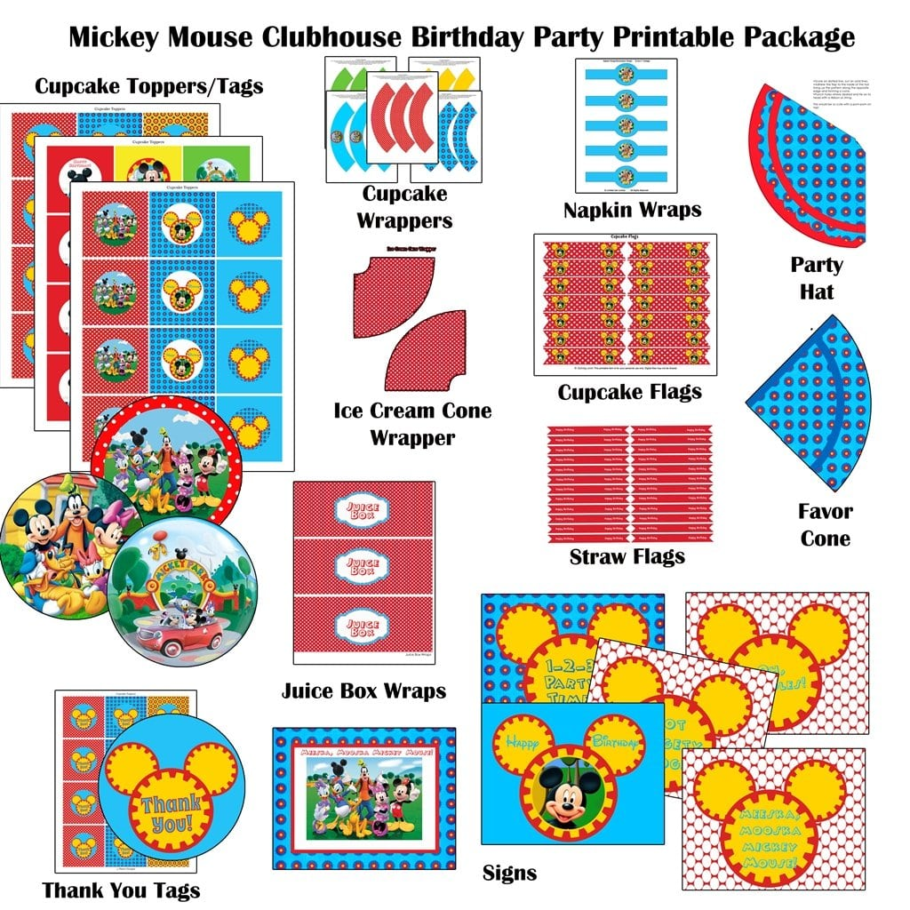 Printable Mickey Mouse Clubhouse Decorations