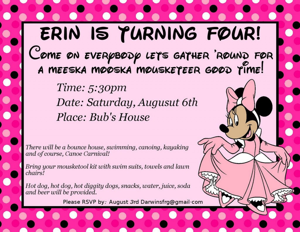 Printable Minnie Mouse Invitation Templates - Party invitation template: free bounce party invitation template