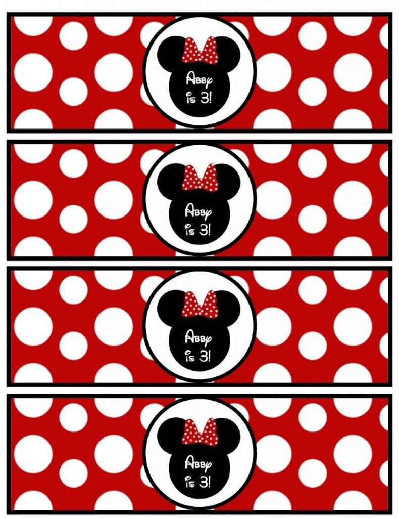 Printable Minnie Mouse Invitation Templates 3