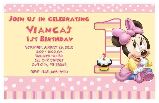 Printable Minnie Mouse Invitation Templates 4