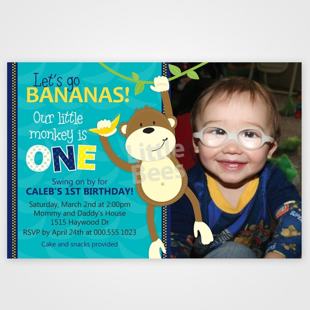 Printable Monkey Birthday Invitations Free