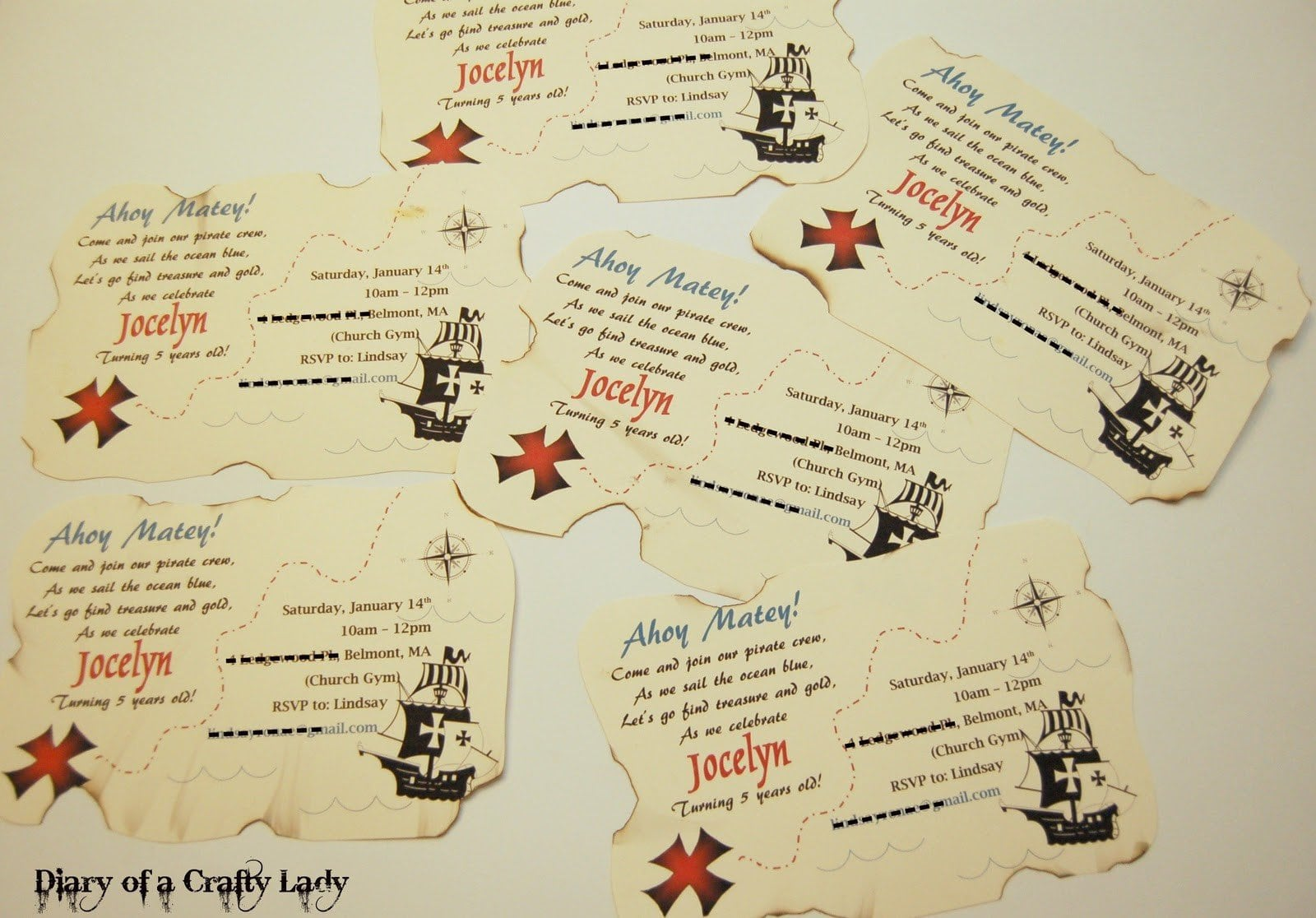 Printable Pirate Invitations Templates Free 2