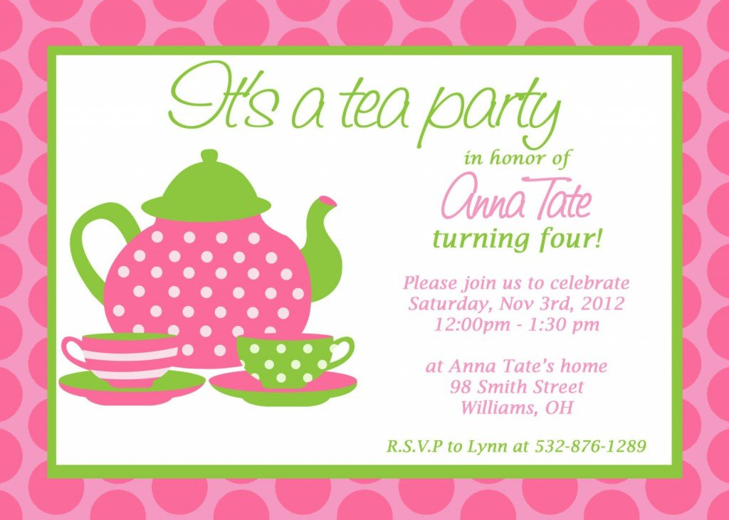 free printable princess tea party invitations, Birthday invitations