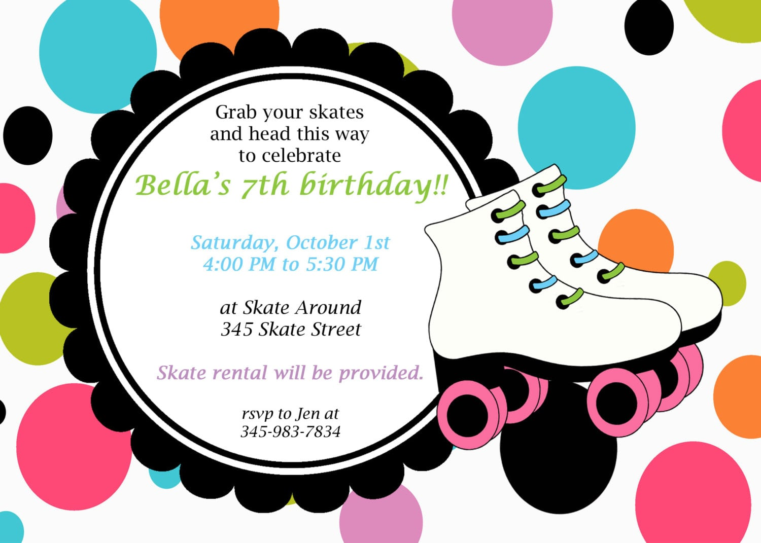 Skating Party Invitations Free Printables is great invitation sample