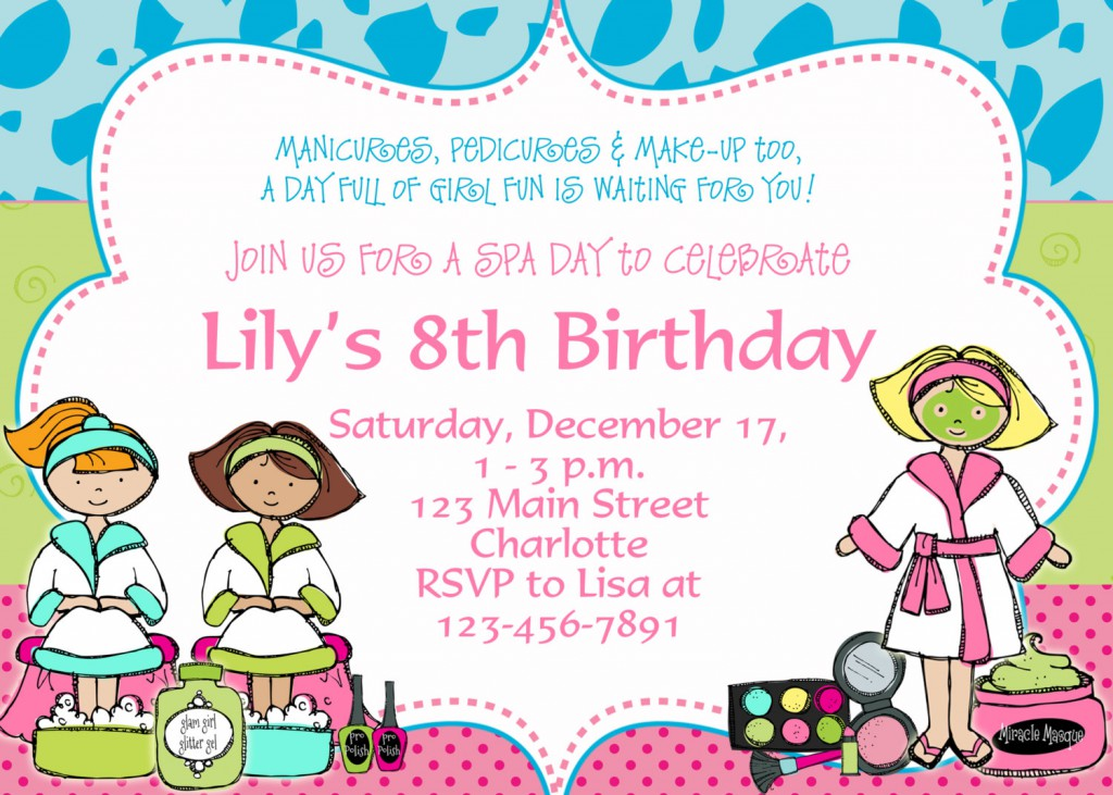 Free printable spa birthday party invitations printable spa birthday party invitations 400 x 285 filmwisefo Image collections