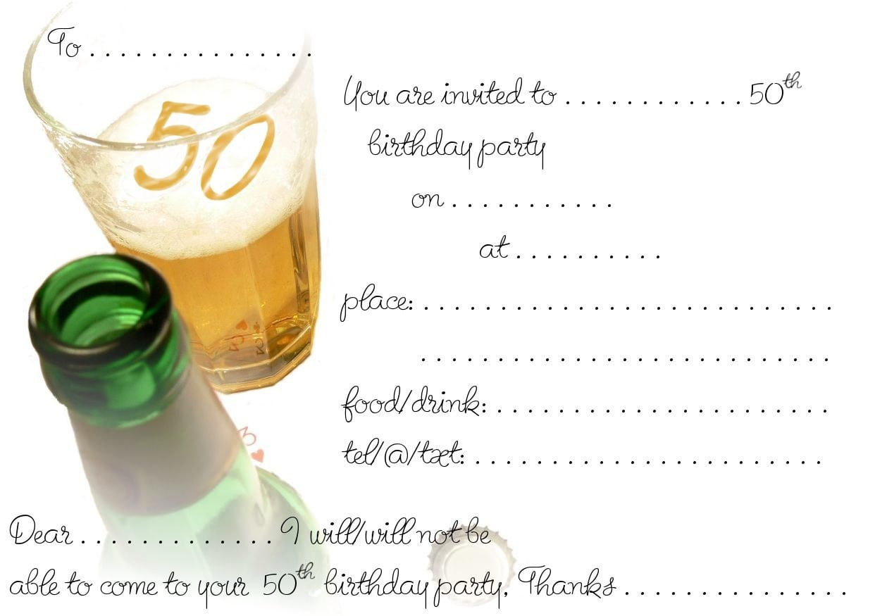 Printable Surprise 50th Birthday Invitations