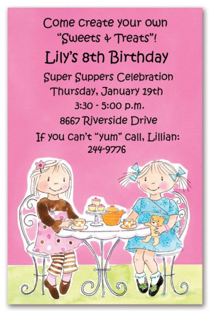 Printable Tea Party Invitations Free 3