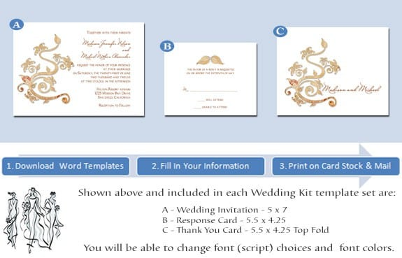Printable Wedding Invitation Templates 2