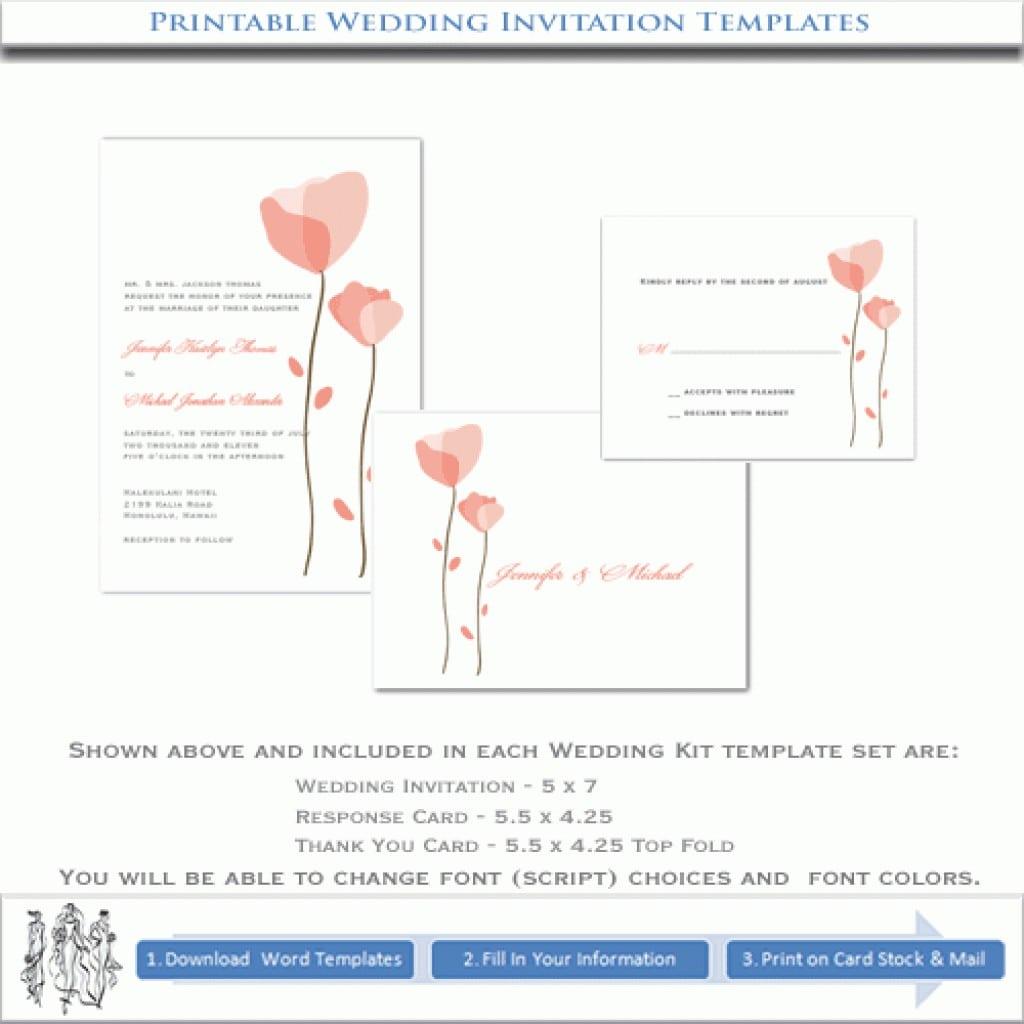 Printable Wedding Invitation Templates 4