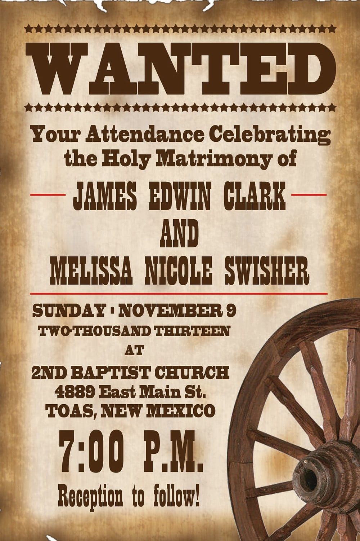 Printable Western Wedding Invitations Free