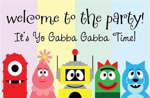Printable Yo Gabba Gabba Birthday Invitations 3