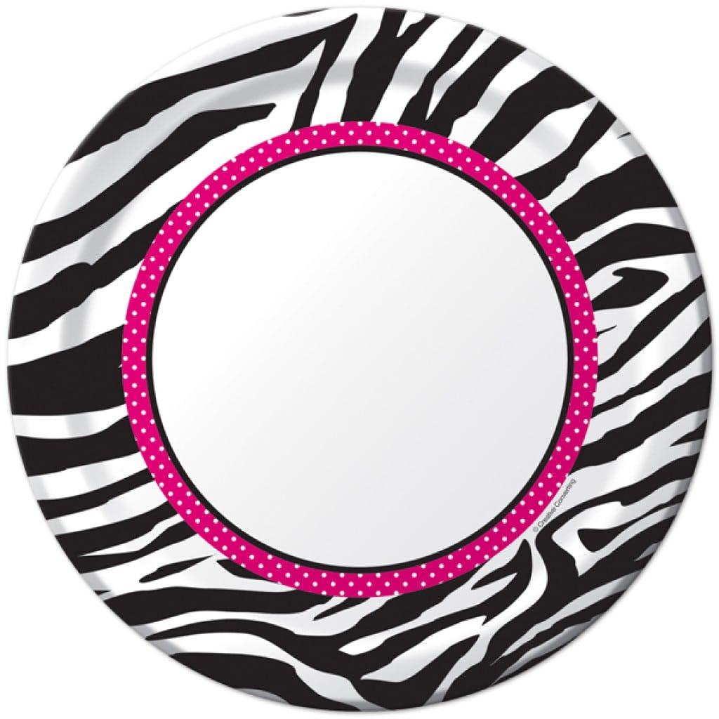 printable zebra print invitation templates
