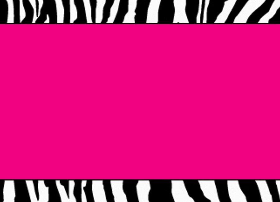 Printable Zebra Print Invitation Templates 3