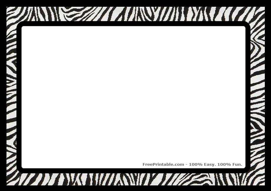printable zebra print invitation templates, Birthday invitations