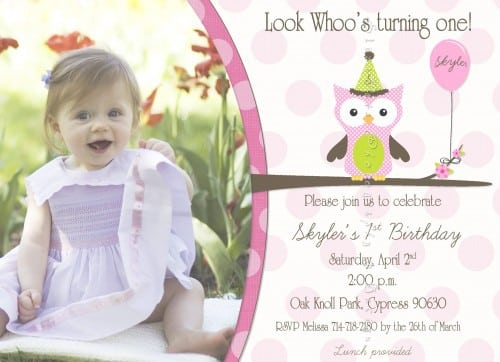 Purple First Birthday Invitation 2