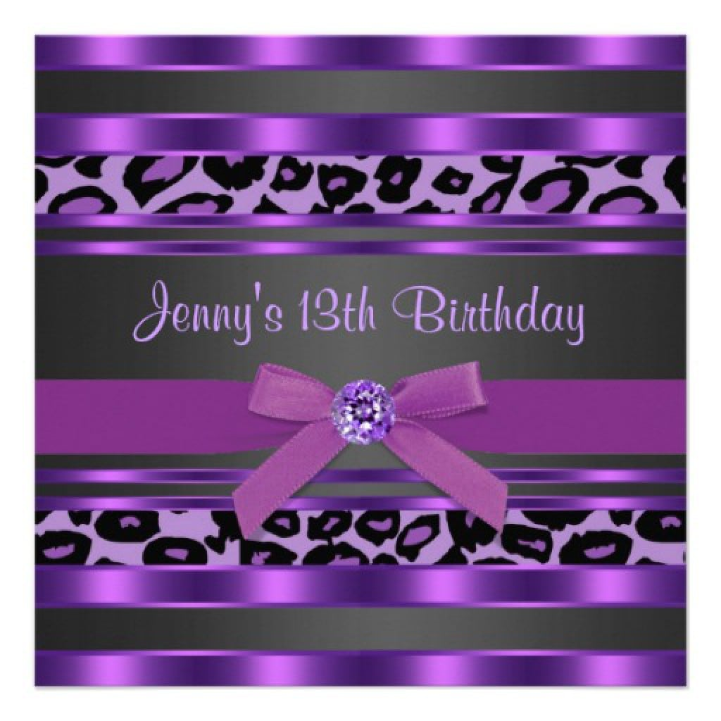 Purple First Birthday Invitation 3