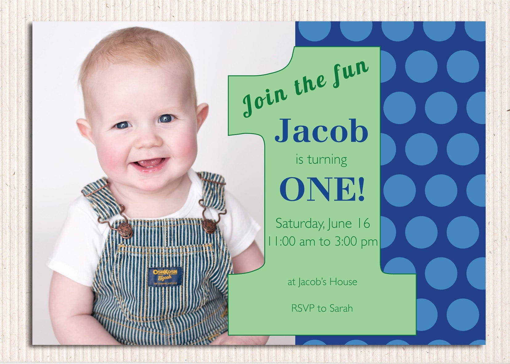 Purple First Birthday Invitation 4