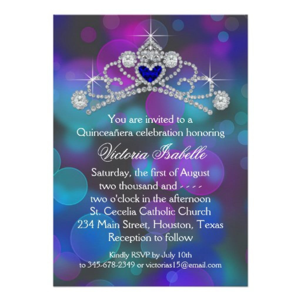 Quinceanera Invitations Templates For Free 3