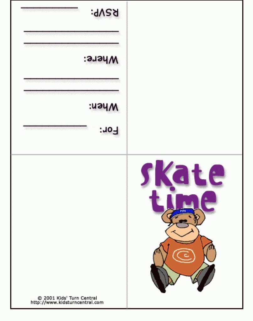 Roller Skating Invites Free Printable 2