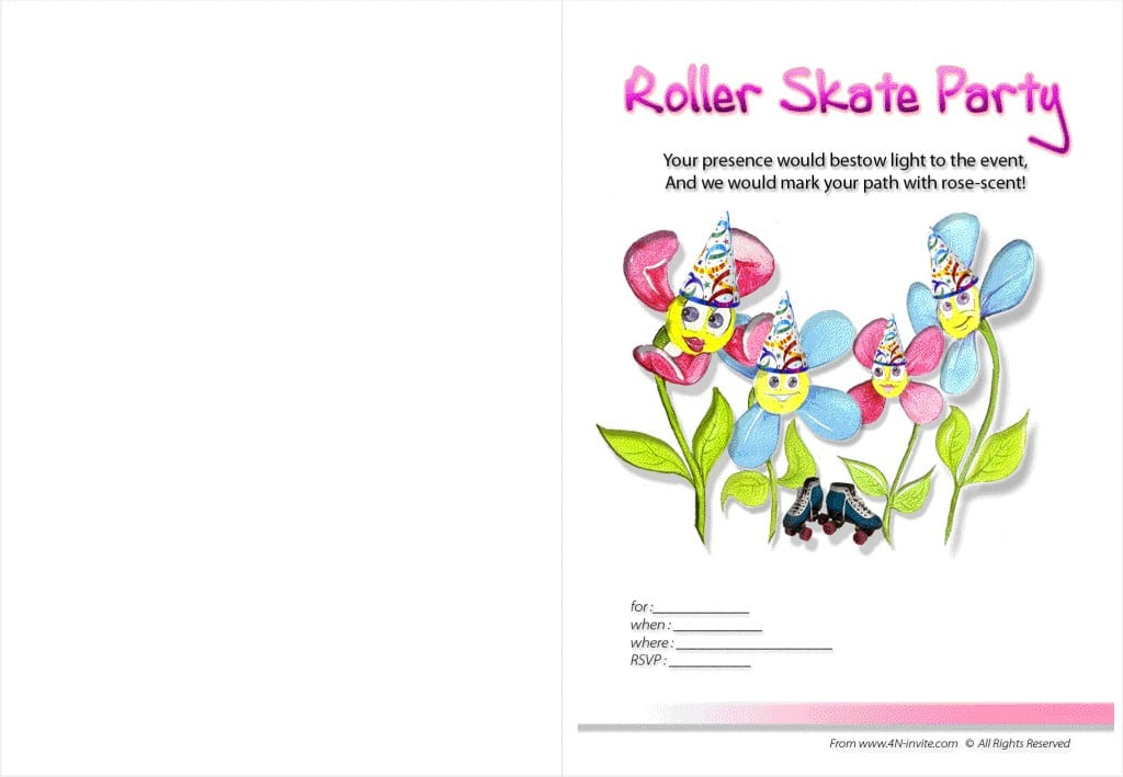 Roller Skating Invites Free Printable 4