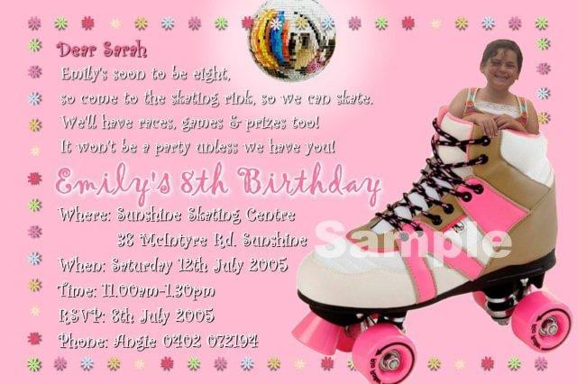 Roller Skating Party Invitation Template 3