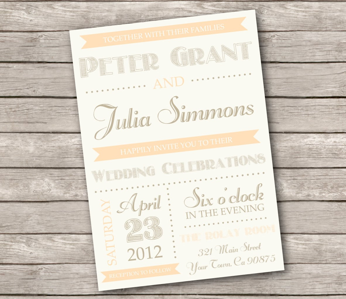 Rustic Country Wedding Invitation Templates