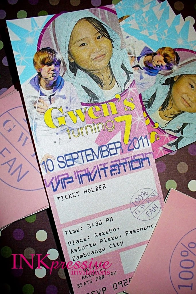 7th birthday sample invitation sample 7th birthday invitation philippines stopboris Images