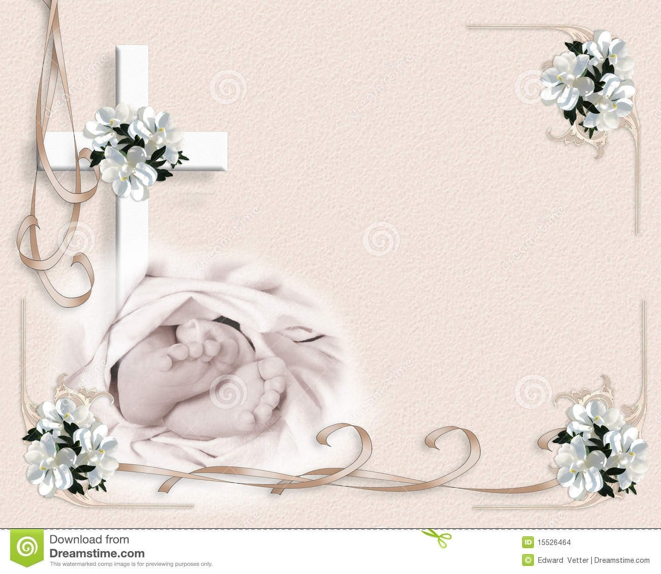 Sample Baptismal Invitation Templates 2