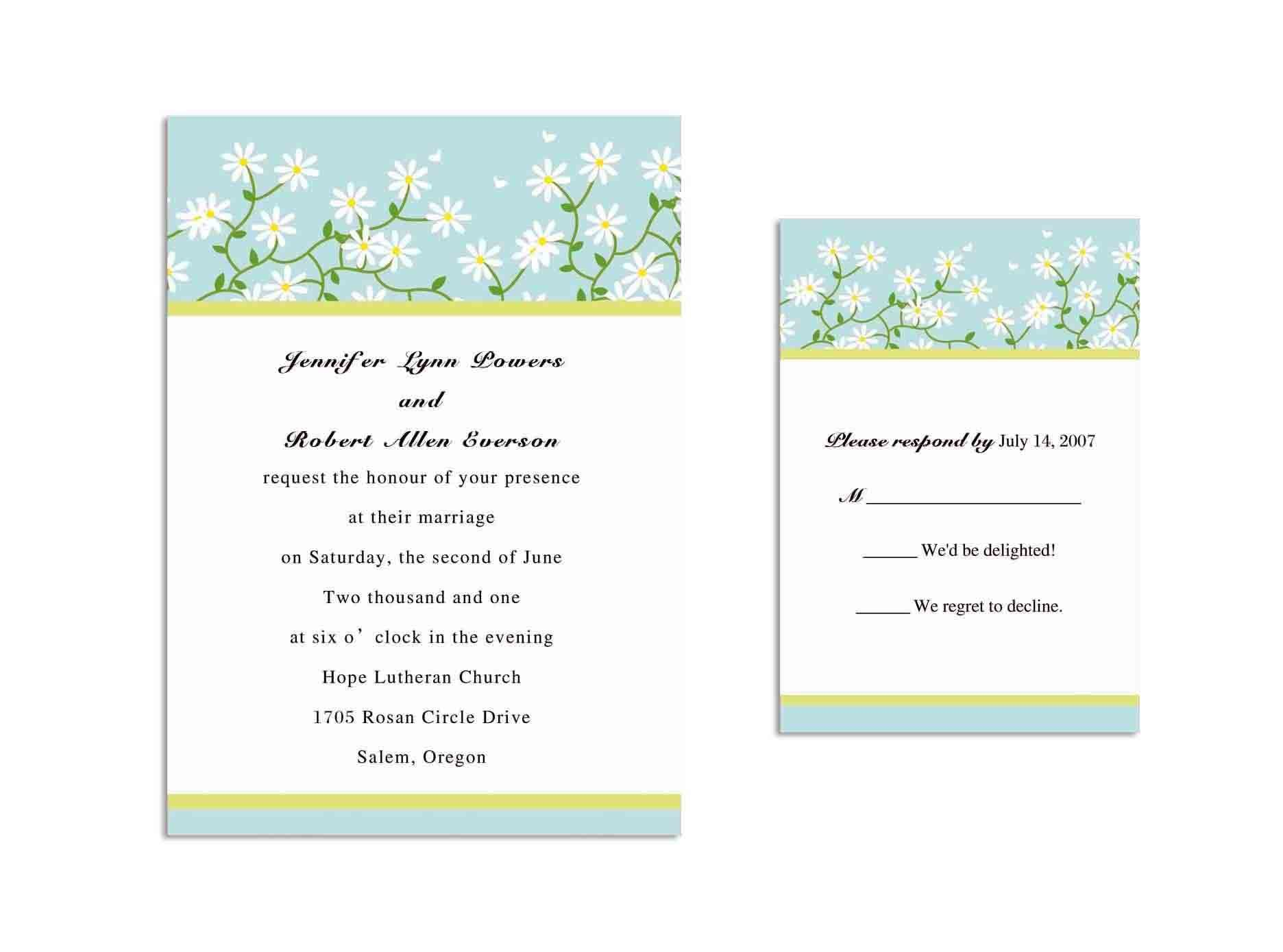 Sample Baptismal Invitation Templates 4
