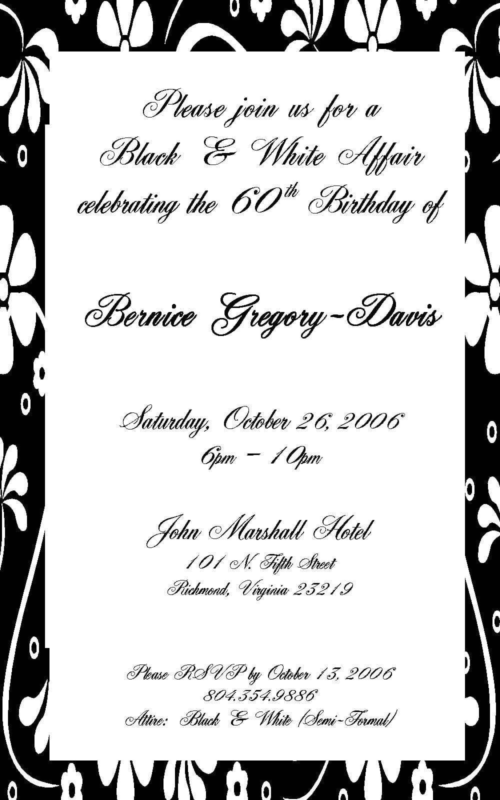 Sample Birthday Invitation Email