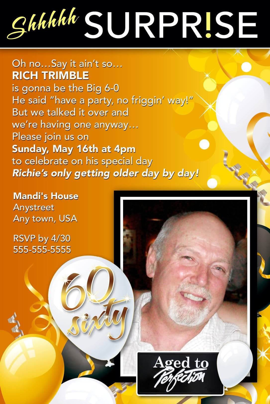 Sample Birthday Invitation For Adults