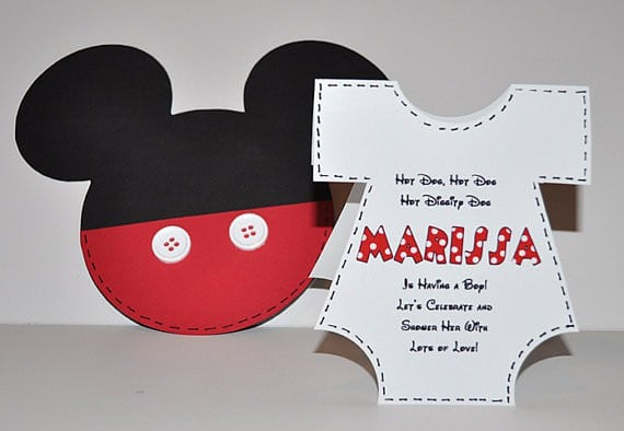 Sample Birthday Invitation Of Mickey Mouse 2