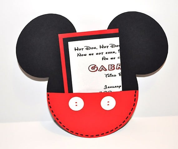 Sample Birthday Invitation Of Mickey Mouse 4